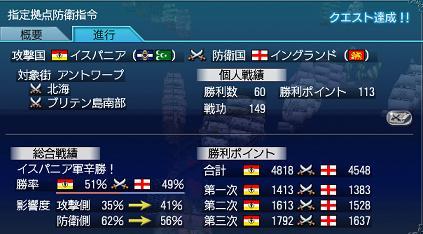 2011.10.31大海戦3日目結果